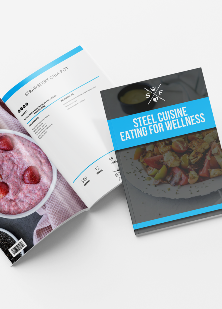 image of open Steel Extreme Recipe book