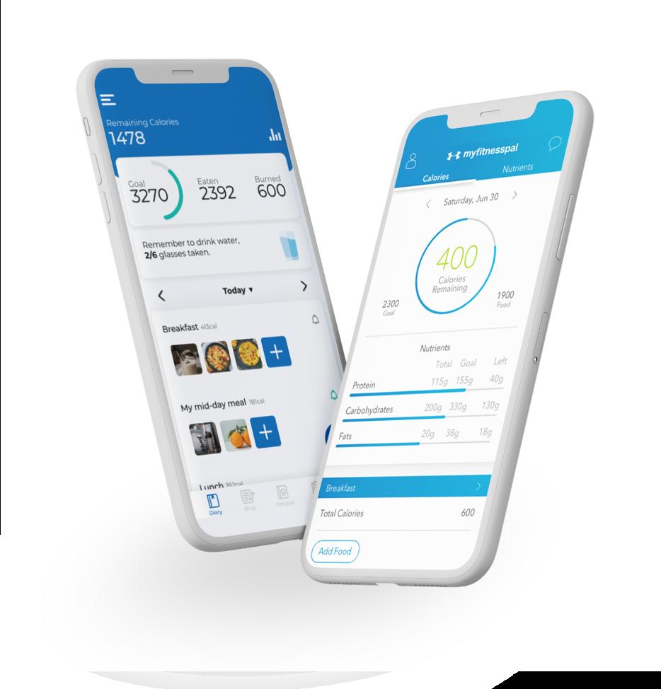 phone screen image of myfitnesspal app